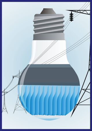 generates: Hydroelectric power plant generates electricity and transmits energy to the high-voltage wires