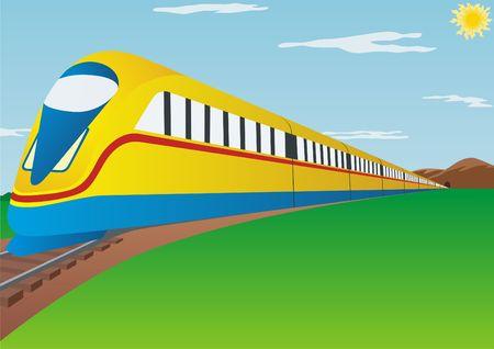 highspeed: Train. Modern high-speed railway passenger transport.