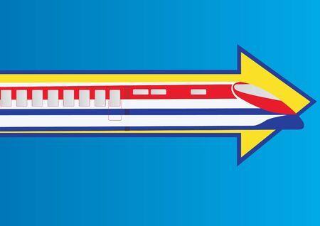 highspeed: Railway transport. Modern high-speed train for passengers.
