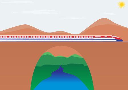 highspeed: Transport railways. The composition of the passenger cars pulls modern high-speed train.