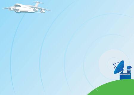 air traffic: Transmite de radar terrestres y monitores de tr�fico a�reo.