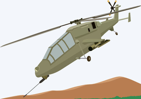 Military equipment. Airforce. Military helicopter. Vector