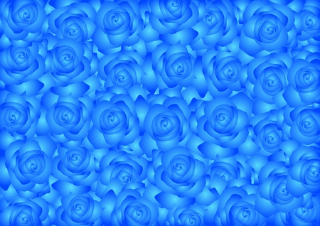 Floral background of blossoming roses Vector