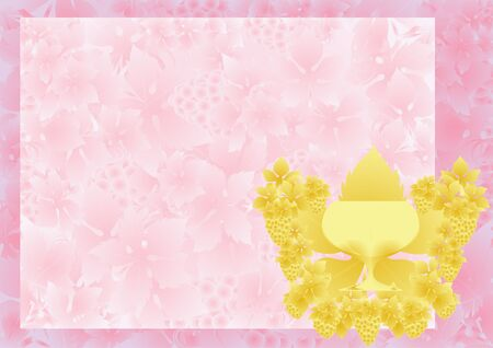 Golden glass of wine on the background of fruits and leaves of grape Stock Vector - 9223137