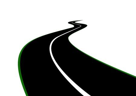 Carretera con un retroceso de franja divisoria en la distancia más allá del horizonte Foto de archivo - 9276771