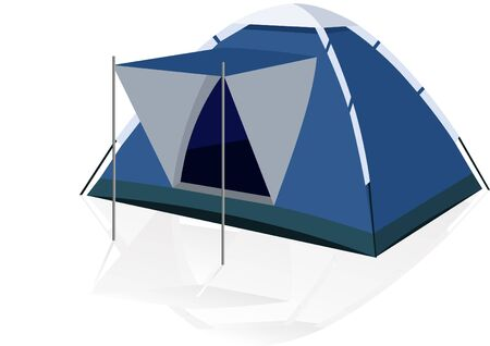 foldable: Camping Tent-portable house for travelers.