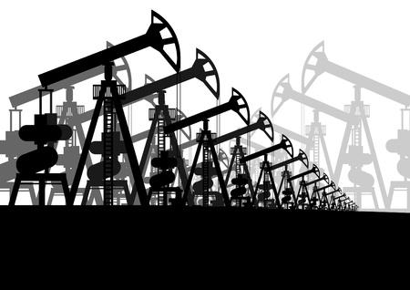 industria petrolera: La miner�a. Industria petrolera. Imagen de contorno Vectores