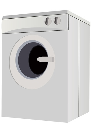 Home appliances for the home. A modern washing machine. Vector