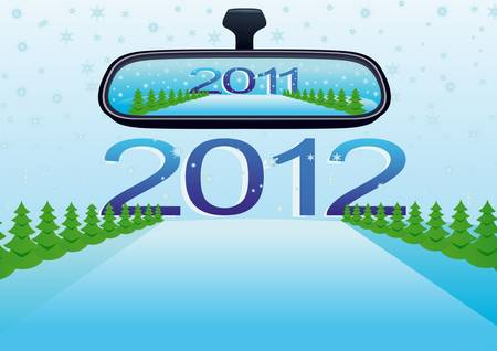 Moving forward, in 2012, leaving behind the past year Stock Vector - 9702010