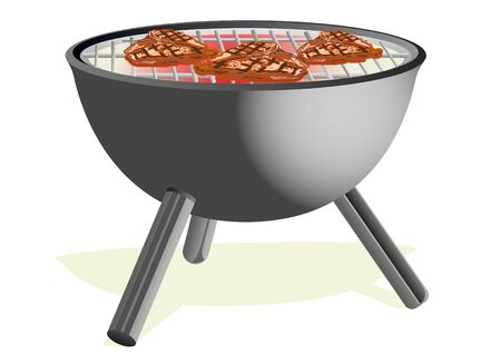 Grill for cooking barbecue and roasting it at a barbecue. Stock Vector - 9702002