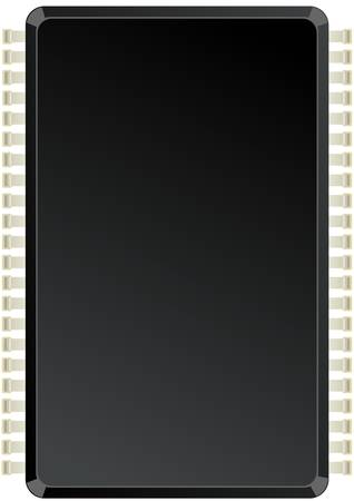 Illustration depicting the chips on a white background on the case which you can place your text.