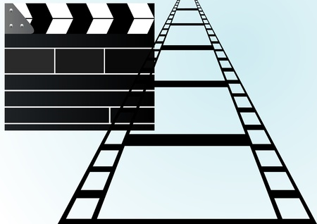 flappers: Film against the backdrop of flappers, is used when shooting movies.