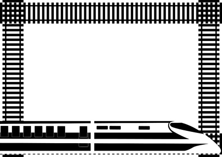 Rail transport and background of the tracks Vector