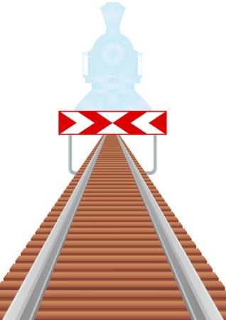 距離とはこれ以上高価な警告のサインに消える鉄道線