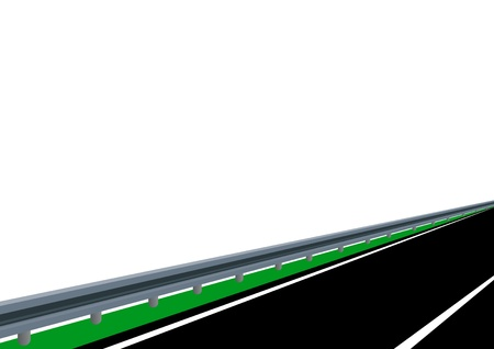 perimeter: The road to a special enclosure. The illustration on white background.
