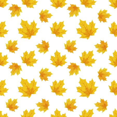 Seamless illustration depicting autumn maple leaves. Vector