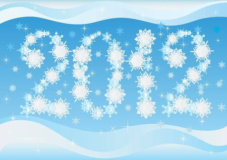 New Year's Eve. The numbers of the new year of falling snowflakes Stock Vector - 10370012