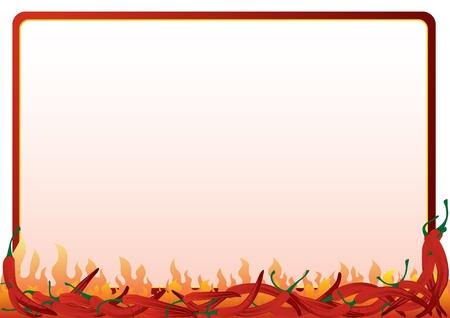 Le cadre des red hot chili peppers. Cadre, où vous pouvez placer votre texte. Vecteurs
