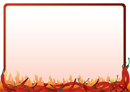 hot frame: The frame of the red hot chili peppers. Frame, where you can place your text.