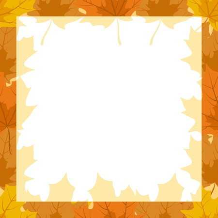 fallen: Seamless background from autumn maple leaves. The frame of autumn maple leaves