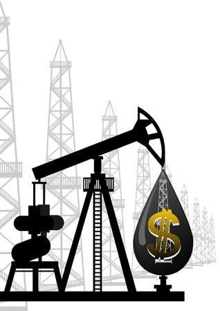An abstract image of the oil industry Vector
