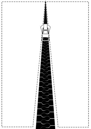 clasp: Fancy clasp. Black and white illustration. Illustration