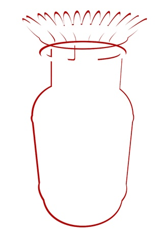 gas cylinder: An abstract of household gas cylinder and the flame of the burner. The illustration on a white background. Illustration