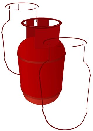 propane: Household gas cylinder. The illustration on a white background. Illustration