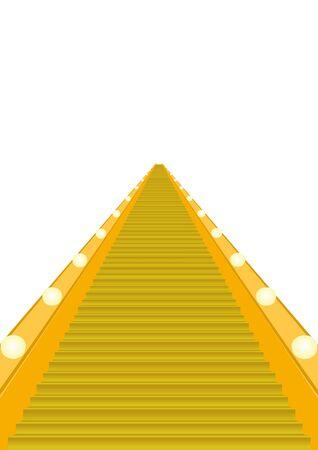 unilateral: Unilateral escalator. The illustration on a white background.