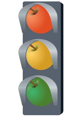 traffic control: Resumen de la unidad de control de tr�fico. La ilustraci�n de un fondo blanco.