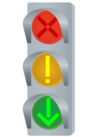 traffic control: Dispositivo de control de tr�fico. La ilustraci�n de un fondo blanco.