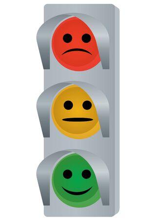 Dispositivo de control de tráfico. La ilustración de un fondo blanco.