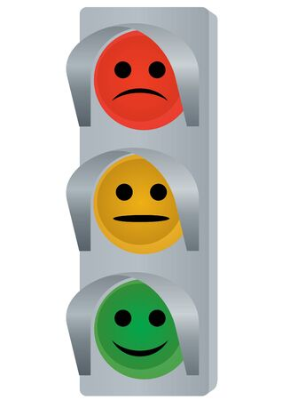 traffic lights: Traffic control device. The illustration on a white background. Illustration
