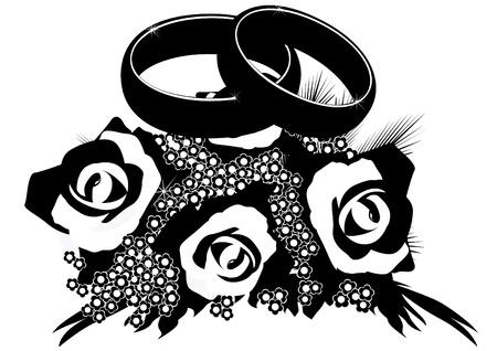 Eheringe clipart schwarz weiß  Hochzeit Schwarz Weiß Lizenzfreie Vektorgrafiken Kaufen: 123RF
