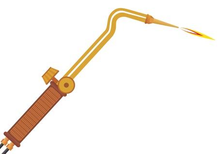 soldadura: Dispositivo para la soldadura de gas de f�brica de la ilustraci�n sobre un fondo blanco