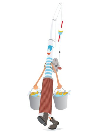 Abstract rod with buckets and catch. The illustration on a white background. Stock Vector - 13123363