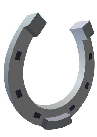 gusseisen: Metall Produkt f�r Pferde beschlagen. Die Abbildung auf einem wei�en Hintergrund.