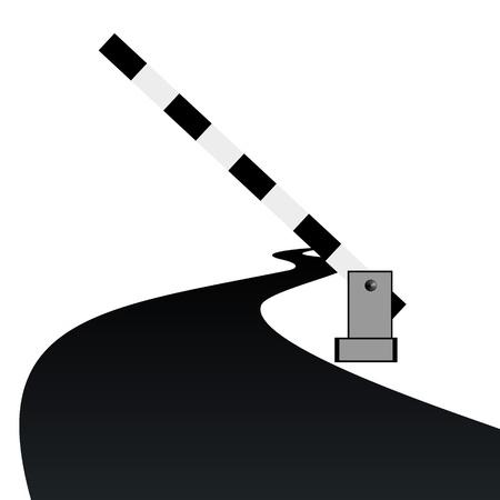 schlagbaum: Stehend von der Schranke die Abbildung auf weißem Hintergrund Illustration