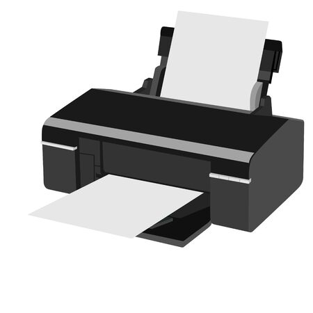 Office equipment The illustration on a white background Vector Illustration