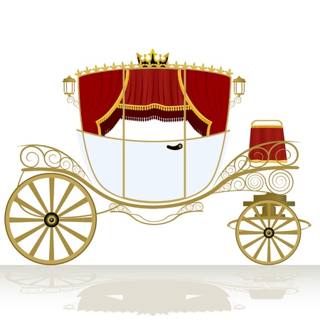 The coach-old means of transportation. The illustration on a white background. Stock Vector - 14786610