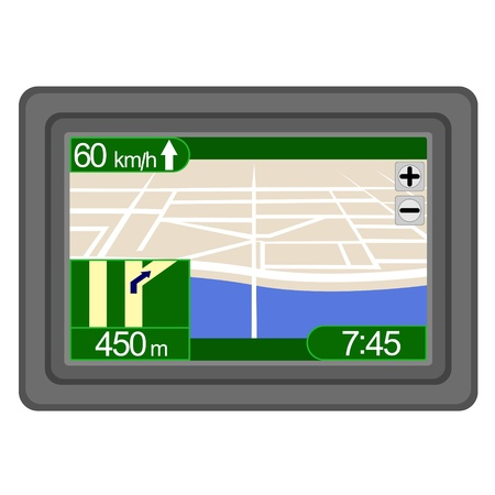 Car Navigation  The illustration on a white background Stock Vector - 14847207