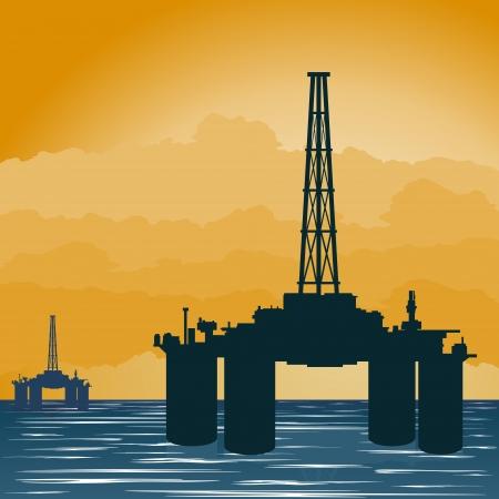 Circuit fonctionne l'industrie pétrolière. Illustration sur l'extraction et la transformation des ressources naturelles.