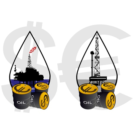 petrochemical: Production and sale of minerals. Illustration on the production and sale of natural resources. Illustration