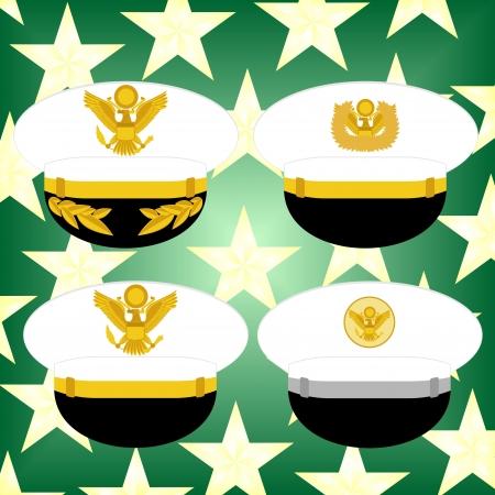 estrellas cinco puntas: Tapa Ceremonial del Ej�rcito de EE.UU. fondo de estrellas de cinco puntas. Vectores