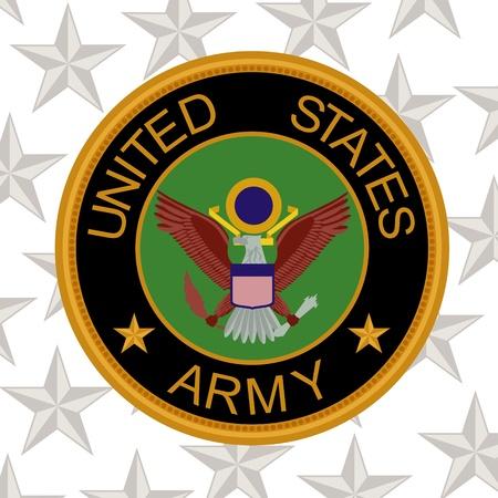 estrellas cinco puntas: Manga chevron del Ejército de EE.UU. fondo de estrellas de cinco puntas.