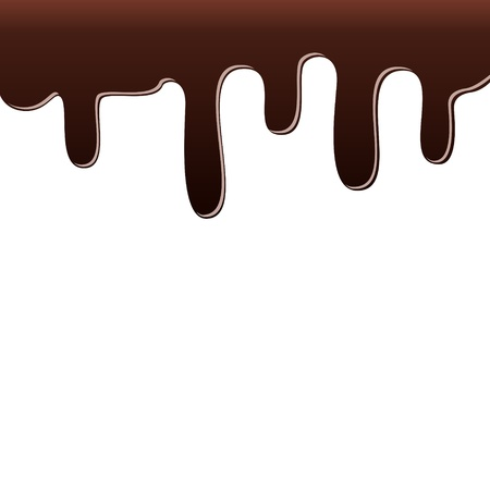 dripping chocolate: Dripping chocolate. Illustration on white background. Illustration