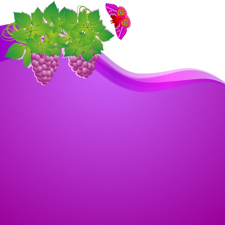 save as: Vines and butterflies on an abstract background. Illustrator save as EPS-10. Illustration