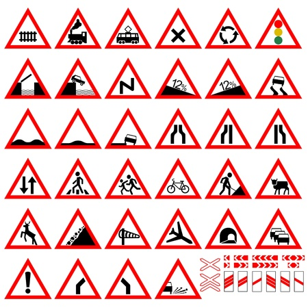 Set of traffic signs. The illustration on a white background. Stock Vector - 20163636