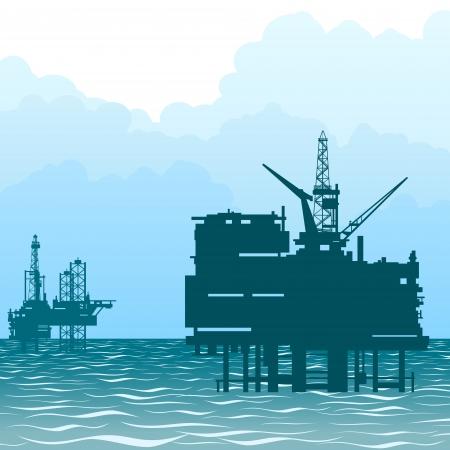 Miniere e delle cave Impianti per l'estrazione di petrolio dalle viscere della Terra