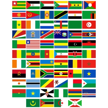 Badges with flags of different countries. The illustration on a white background. Stock Vector - 23112052
